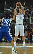 DESCRIZIONE : Roma Amichevole preparazione Eurobasket 2007 Italia Grecia <br /> GIOCATORE : Andrea Bargnani <br /> SQUADRA : Nazionale Italia Uomini <br /> EVENTO : Amichevole preparazione Eurobasket 2007 Italia Grecia<br /> GARA : Italia Grecia <br /> DATA : 30/08/2007 <br /> CATEGORIA : Tiro <br /> SPORT : Pallacanestro <br /> AUTORE : Agenzia Ciamillo-Castoria/E.Grillotti