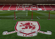 General view of the ground before the Sky Bet Championship match between Middlesbrough and Fulham at the Riverside Stadium, Middlesbrough, England on 17 October 2015. Photo by George Ledger.