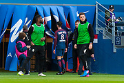 Thiago Motta (psg) back to the changing room after received à red card during the French Championship Ligue 1 football match between Paris Saint-Germain and SCO Angers on march 14, 2018 at Parc des Princes stadium in Paris, France - Photo Pierre Charlier / ProSportsImages / DPPI