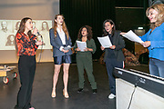 2019, June 04. JvE Studio, Almere, The Netherlands. Cast at the press presentation of Mammoet.