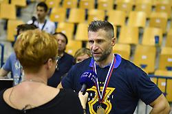 Tomaz Ocvirk of RK Pivovarna Lasko after the handball match between RK Celje Pivovarna Lasko and RK Gorenje Velenje in last round of Liga NLB 2018/19, on May 31st, 2019, in Arena Zlatorog, Celje, Slovenia. RK Celje PL became Slovenian National Champion in year 2019. Photo by Milos Vujinovic / Sportida