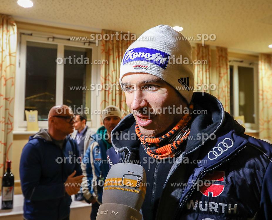 23.01.2017, Planai, Schladming, AUT, FIS Weltcup Ski Alpin, Slalom, Herren, Startnummernauslosung, im Bild Felix Neureuther (GER) // Felix Neureuther of Germany during the bibdraw prior to the Schladming FIS Ski Alpine World Cup 2017 at the Planai in Schladming, Austria on 2017/01/23. EXPA Pictures © 2017, PhotoCredit: EXPA/ Martin Huber
