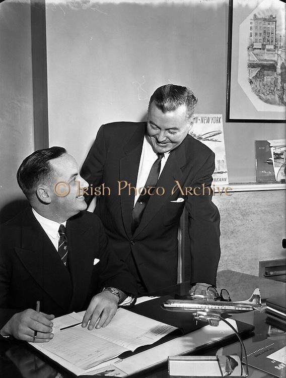 24/01/1958 <br /> 01/24/1958<br /> 24 January 1958<br /> <br /> Special for Aer Lingus - Mr G.C. Draper and Mr Hudson