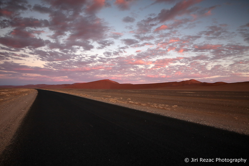 NAMIBIA SOSSUSVLEI 21APR14 - Empty desert road during sunset in the Sossusvlei, Namibia.<br /> <br /> <br /> <br /> jre/Photo by Jiri Rezac<br /> <br /> <br /> <br /> &copy; Jiri Rezac 2014