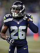 Seattle Seahawks safety Steven Terrell (26) looks on during the NFL week 19 NFC Divisional Playoff football game against the Carolina Panthers on Saturday, Jan. 10, 2015 in Seattle. The Seahawks won the game 31-17. ©Paul Anthony Spinelli