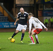 Dundee&rsquo;s Gary Harkins takes on Falkirk&rsquo;s Paul Watson  - Dundee v Falkirk, William Hill Scottish Cup Fourth Round at Dens Park <br /> <br />  - &copy; David Young - www.davidyoungphoto.co.uk - email: davidyoungphoto@gmail.com