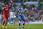 Brighton winger, Elvis Manu during the Sky Bet Championship match between Brighton and Hove Albion and Cardiff City at the American Express Community Stadium, Brighton and Hove, England on 3 October 2015.