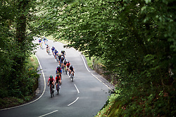 The race approaches on Stage 6 of 2019 OVO Women's Tour, a 125.9 km road race from Carmarthen to Pembrey, United Kingdom on June 15, 2019. Photo by Sean Robinson/velofocus.com