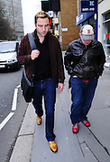 23.MARCH.2010. LONDON<br /> <br /> A GRUMPY DAVID WALLIAMS AND MATT LUCAS WALKING THROUGH MARYLEBONE HIGH STREET AND STOP TO TAKE A PHOTO WITH A FAN.<br /> <br /> BYLINE: EDBIMAGEARCHIVE.COM<br /> <br /> *THIS IMAGE IS STRICTLY FOR UK NEWSPAPERS & MAGAZINES ONLY*<br /> *FOR WORLDWIDE SALES & WEB USE PLEASE CONTACT EDBIMAGEARCHIVE - 0208 954 5968*
