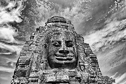 200 faces carved into stones of Bayon Temple.