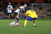 Port Vale forward Byron Moore and Maidenhead United midfielder Kieron Forbes during the The FA Cup match between Port Vale and Maidenhead United at Vale Park, Burslem, England on 8 November 2015. Photo by Jemma Phillips.