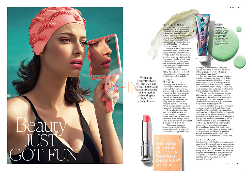Beauty just got fun! A gorgeous new feature about getting playful with your makeup in the September issue of Marie Claire Australia, on sale now.