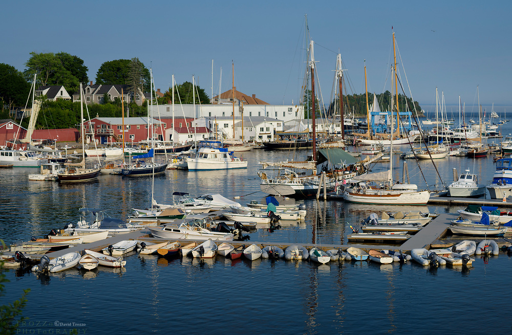 View of the Harbor at Camden Maine.