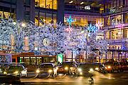 Christmas Decorations at The Time Warner Center at Columbus Circle, New York City.