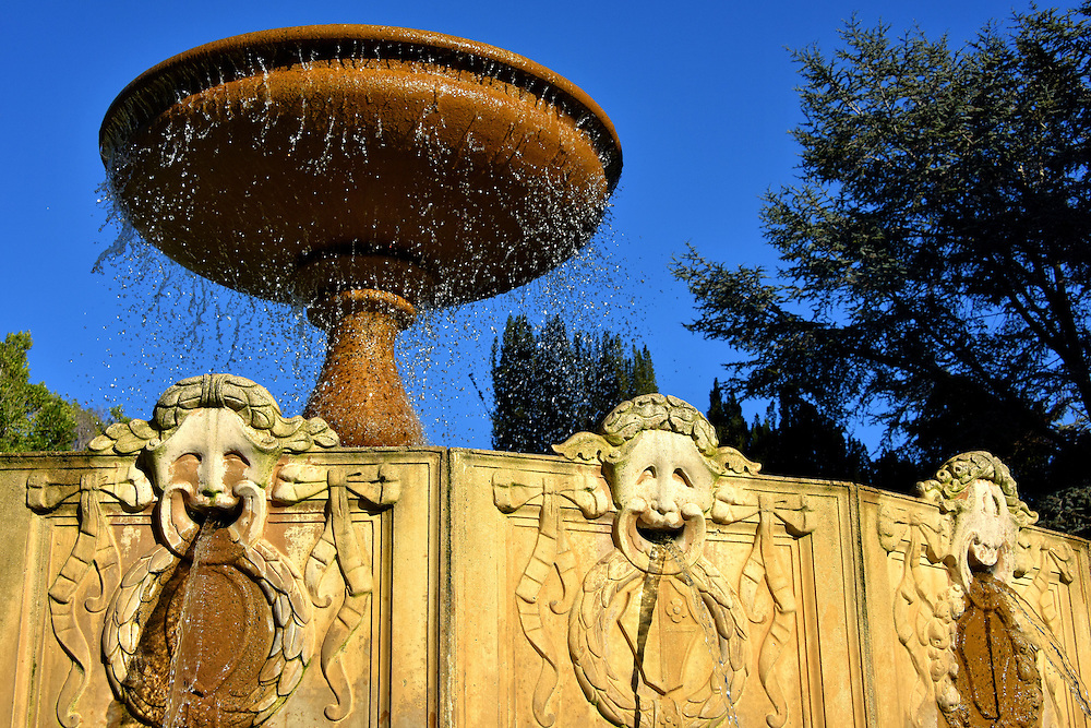 Water Fountain at Vi&ntilde;a Del Mar Plaza in Sausalito, California <br />