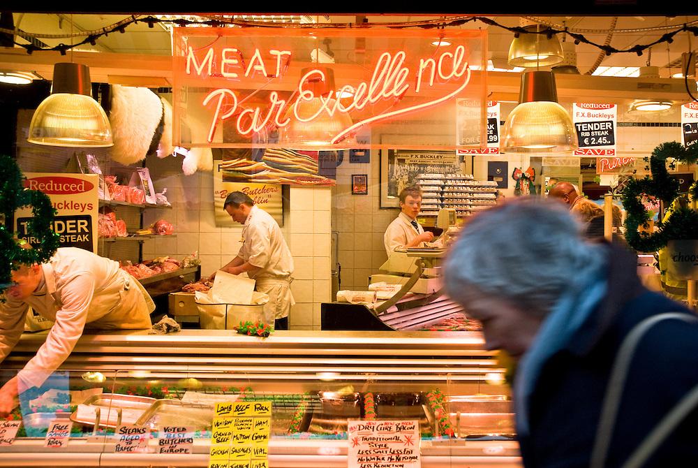 Meat Par Excellence, Moore Street, Dublin, Ireland.