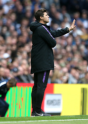 Tottenham Hotspur manager Mauricio Pochettino during the Premier League match at Tottenham Hotspur Stadium, London.