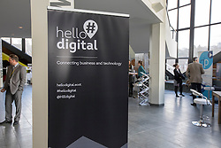 #hellodigital Extra 2017 event, held at Eden Court in Inverness.<br /> <br /> Pictured: branding<br /> <br /> Malcolm McCurrach | EEm | Mon, 20, February, 2017