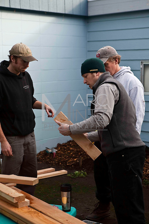 Resource Assistance for Rural Environments (RARE). MLK day volunteers. Springfield, Oregon.