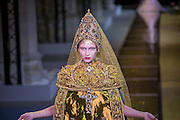 January 25, 2017, Paris, France. Models on the runway during the Guo Pei Haute Couture Spring Summer 2017 fashion show during the Paris Fashion Week.  <br /> <br /> 25 janvier 2017, Paris, France. Mannequins pendant le défilé Haute Couture Printemps été 2017 de Guo Pei lors de la Fashion Week de Paris.