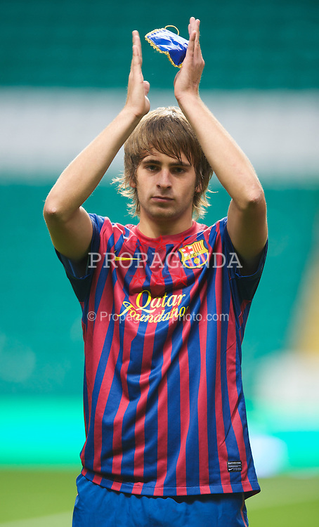 GLASGOW, SCOTLAND - Wednesday, August 31, 2011: FC Barcelona's Miguel Angel Sainz-Maza during the NextGen Series Group 1 match against Glasgow Celtic at Celtic Park. (Pic by Mark Runnacles/Propaganda)