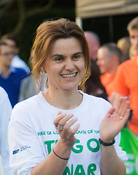 Westminster, London, June 6th 2016.The judge prepares for another match as teams from uk industry as well as the House of Commons and the House of Lords compete in the annual McMillan Cancer Charity tug o' war. PICTURED: Jo Cox MP