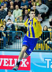 Ivan Sliskovic of Celje PL during handball match between RK Celje Pivovarna Lasko (SLO) and Rhein-Neckar Loewen (GER) in Round 6 of EHF Champions League 2014/15, on November 23, 2014 in Arena Zlatorog, Celje, Slovenia. Photo by Vid Ponikvar / Sportida