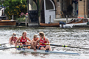Henley on Thames, England, United Kingdom, 7th July 2019, Henley Royal Regatta, Finals Day, The Town Challange Cup, Hollandia Roeiclub, Netherlands, celebrate after victory over the  Chinese National Rowing Team, China, Henley Reach, [© Peter SPURRIER/Intersport Image]<br />