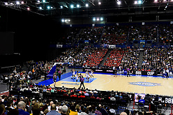 A general view of the Arena Birmingham as Bristol Flyers face Worcester Wolves - Photo mandatory by-line: Ryan Hiscott/JMP - 26/01/2020 - BASKETBALL - Arena Birmingham - Birmingham, England - Bristol Flyers v Worcester Wolves - British Basketball League Cup Final