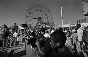 """Crowds at Coney Island...Part of long-term (2005-2008) story """"I See A Darkness"""". New York, NY."""