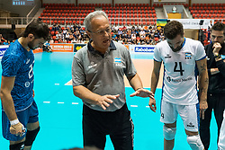 06-09-2018 NED: Netherlands - Argentina, Doetinchem<br /> First match of Gelderland Cup / Coach Julio Velasco,  (born February 9, 1952 in La Plata, Argentina) is an Argentine-born Italian professional volleyball coach. Velasco in 2005 added at the Volleyball Hall of Fame.