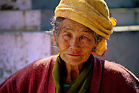 Woman at the Tibetan Chorten and Monastery, Gangtok, Sikkim, India