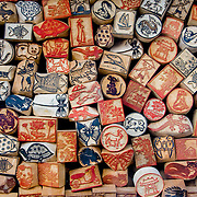 Chinese style woodcut block stamps (Hanoi, Vietnam - Nov. 2008) (Image ID: 081113-0702271a)