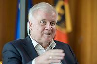 01 JUL 2019, BERLIN/GERMANY:<br /> Horst Seehofer, CSU, Bundesinnenminister, waehrend einem Interview, in seinem Buero, Bundesministerium des Inneren<br /> IMAGE: 20190701-01-042<br /> KEYWORDS: Büro