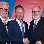 NLD/Leeuwarden/20180127 - Alexander en Maxima openen Leeuwarden-Fryslân 2018, Tjeerd van Bekkum met Wiebe Wieling en Frans Timmermans