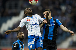 January 28, 2018 - Gent, BELGIUM - Gent's Mamadou Sylla and Club's Jelle Vossen fight for the ball during the Jupiler Pro League match between KAA Gent and Club Brugge, in Gent, Sunday 28 January 2018, on the day 24 of the Jupiler Pro League, the Belgian soccer championship season 2017-2018. BELGA PHOTO JASPER JACOBS (Credit Image: © Jasper Jacobs/Belga via ZUMA Press)