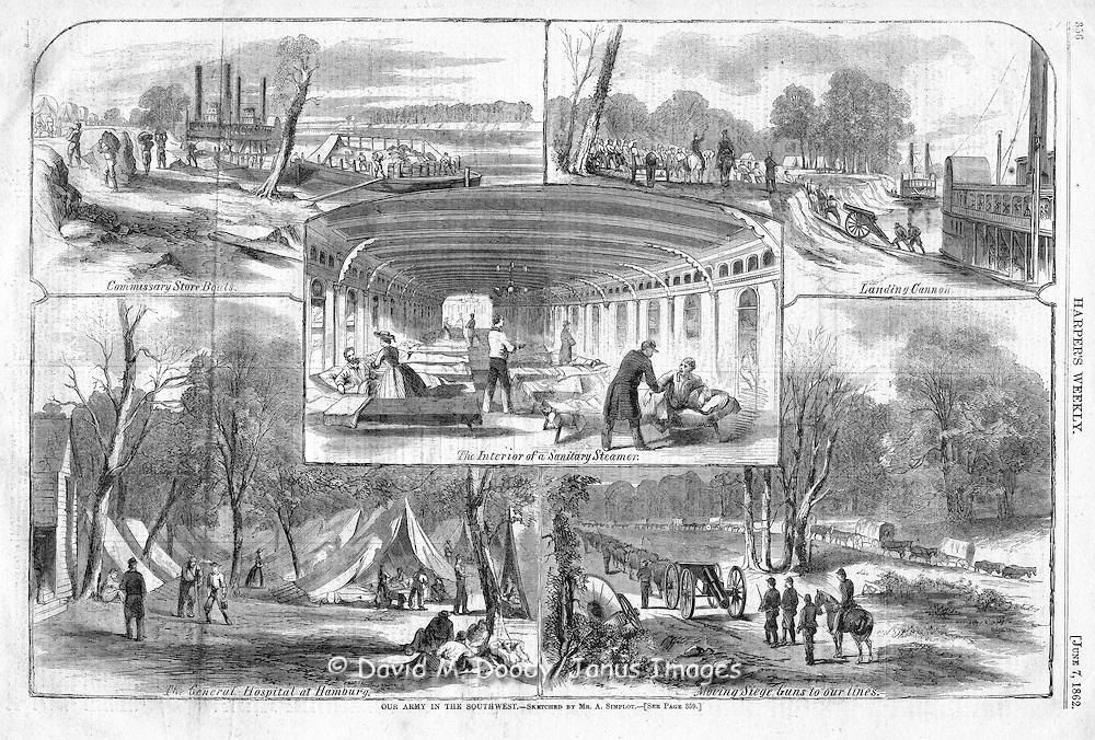 Civil War hosiptal at Fort Monroe, Virginia 1862