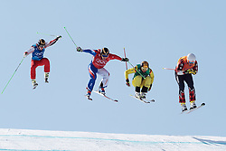 21.02.2018, Phoenix Snow Park, Bokwang, KOR, PyeongChang 2018, Freestyle, Ski Cross, Herren, im Bild Egor Korotkov (OAR), Jean Frederic Chapuis (FRA), Paul Eckert (GER), Dave Duncan (CAN) // Egor Korotkov of Olympic Athlete from Russia Jean Frederic Chapuis of France Paul Eckert of Germany Dave Duncan of Canada during the men's Freestyle Ski Cross competition of the Pyeongchang 2018 Winter Olympic Games at the Phoenix Snow Park in Bokwang, South Korea on 2018/02/21. EXPA Pictures © 2018, PhotoCredit: EXPA/ Johann Groder