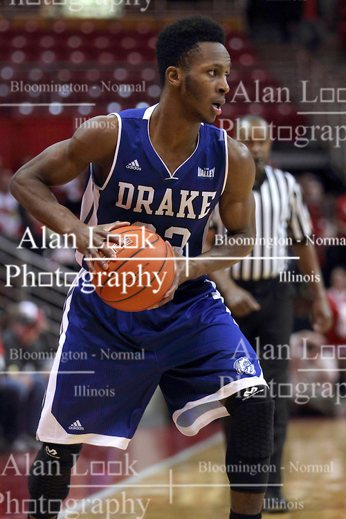 07 January 2015:   Ore Arogundade during an NCAA MVC (Missouri Valley Conference) men's basketball game between the Drake Bulldogs and the Illinois State Redbirds at Redbird Arena in Normal Illinois.  Illinois State comes out victorious 81-45.