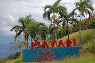 Mayari town entry sign, Holguin, Cuba.