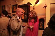 Andy Lunt and Leanne Buckham, Matthew buckham  painting exhibition. Maison Bertaux. Soho. London. 28 March 2007.  -DO NOT ARCHIVE-© Copyright Photograph by Dafydd Jones. 248 Clapham Rd. London SW9 0PZ. Tel 0207 820 0771. www.dafjones.com.