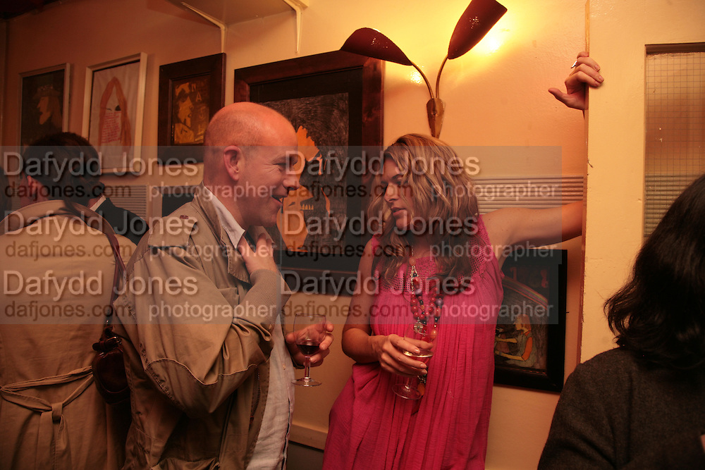 Andy Lunt and Leanne Buckham, Matthew buckham  painting exhibition. Maison Bertaux. Soho. London. 28 March 2007.  -DO NOT ARCHIVE-© Copyright Photograph by Dafydd Jones. 248 Clapham Rd. London SW9 0PZ. Tel 0207 820 0771. www.dafjones.com.