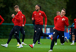 CARDIFF, WALES - Monday, October 15, 2018: Wales' captain Ashley Williams during a training session at the Vale Resort ahead of the UEFA Nations League Group Stage League B Group 4 match between Republic of Ireland and Wales. (Pic by David Rawcliffe/Propaganda)