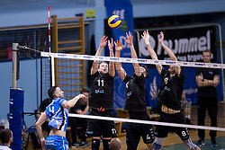 Dalibor Tomic of Salonit Anhovo during 3rd Leg volleyball match between OK Calcit Volley and Salonit Anhovo in Semifinal of 1. DOL Slovenian National Championship 2017/18, on April 15, 2018 in Sports hall Kamnik, Kamnik, Slovenia. Photo by Urban Urbanc / Sportida