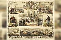 Prizori ugarsko-hervatskog bojišta = Scenen von ungarisch-croatischen Kriegsschauplatze / V. [Vinzenz] Katzler. <br /> <br /> ImpresumWien : Joseph Bermann, 1849.<br /> Materijalni opis1 grafika : litografija kredom ; 436 x 509 mm.<br /> Ostali nasloviScenen von ungarisch-croatischen Kriegsschauplatze<br /> AutorKatzler, Vinzenz<br /> Vrstavizualna građa • grafike<br /> ZbirkaGrafička zbirka NSK • Zbirka stranih crteža i grafika<br /> Formatimage/jpeg<br /> Predmet-osobaJelačić, Josip(16. 10. 1801.–20. 5. 1859.)<br /> SignaturaGZGS 1774 katz 3<br /> Obuhvat(vremenski)19. stoljeće<br /> NapomenaSignatura otisnuta po sredini prikaza desno: V.Katzler gezeich // 1849.; dolje po sredini prikaza otisnuto: Verlags-Eigenthum v. Jos.Bermann in Wien; ispod prikaza uz donji rub lista po cijeloj dužini otisnuto: Prizori ugarsko-hervatskog bojišta pod zapovedničtvom Nj. jasn[osti]i. bana trojedne kraljevine Josipa Jelačića c.k. Feldmaršallieutnanta. Scenen v. ungarisch-croatischen Kriegsschauplatze • Thieme/Becker, sv. 19., str.597-598; Zbivanja 1848.-1849. na grafičkim listovima , Hrvatski povijesni muzej, Zagreb, 2000., str.66.<br /> PravaJavno dobro<br /> Identifikatori000706444<br /> NBN.HRNBN: urn:nbn:hr:238:982760 <br /> <br /> Izvor: Digitalne zbirke Nacionalne i sveučilišne knjižnice u Zagrebu