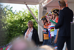 Boels Dolmans sign on at Boels Rental Ladies Tour Stage 5 a 141.8 km road race from Stamproy to Vaals, Netherlands on September 2, 2017. (Photo by Sean Robinson/Velofocus)