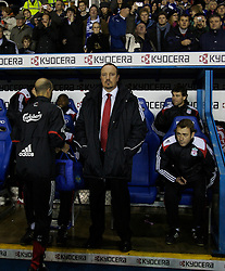 Reading, England - Saturday, December 8, 2007: Liverpool's manager Rafael Benitez before the Premiership match against Reading at the Madejski Stadium. (Photo by David Rawcliffe/Propaganda)