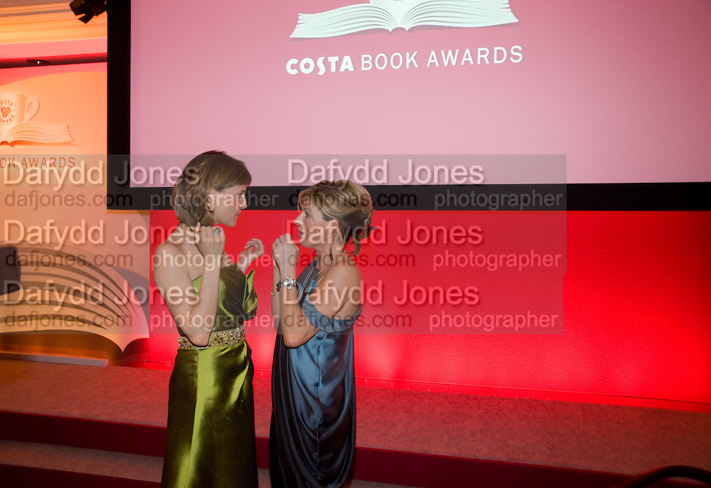 Katie Derham; Andrea Catherwood;  The Costa Book of the Year Award at the Costa Book Awards. The Intercontinental Hotel, Hamilton Place. London. 27 January 2009 *** Local Caption *** -DO NOT ARCHIVE -Copyright Photograph by Dafydd Jones. 248 Clapham Rd. London SW9 0PZ. Tel 0207 820 0771. www.dafjones.com<br /> Katie Derham; Andrea Catherwood;  The Costa Book of the Year Award at the Costa Book Awards. The Intercontinental Hotel, Hamilton Place. London. 27 January 2009