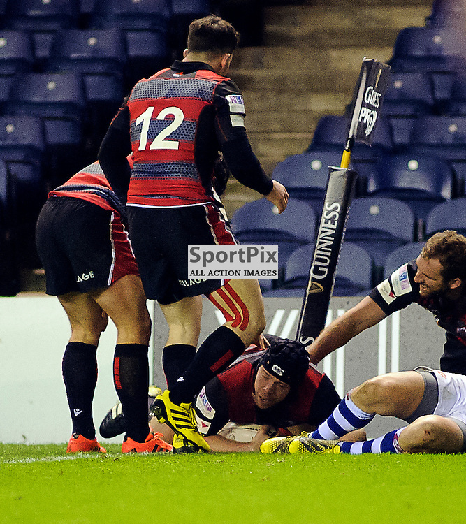 27/11/2015, Murrayfield, Scotland,  during the Edinburgh Rugby v Dragons Guinness PRO12 game, ......(c) COLIN LUNN | SportPix.org.uk