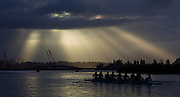 Rowing Crews compete at the Head of the Lake Rowing regatta in Seattle Washington November 3, 2013 - (Photo by Kevin Light)